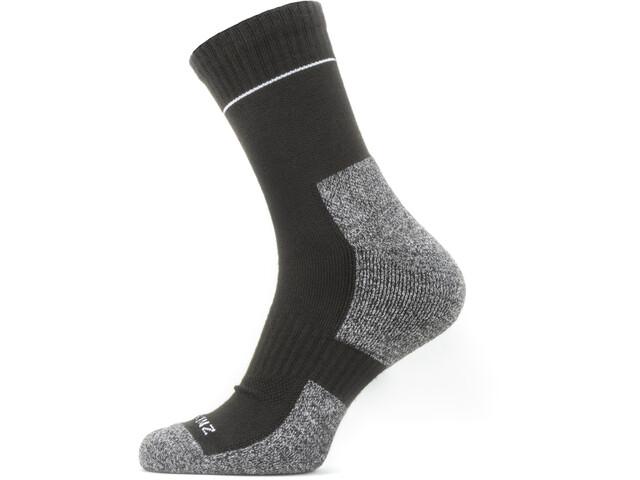 Sealskinz Solo QuickDry Calcetines de tobillo, negro/gris